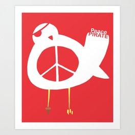 Peace Pirate Art Print