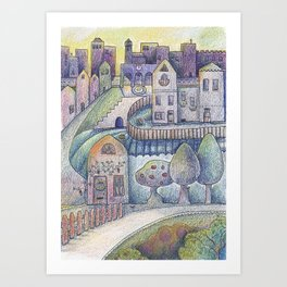 My little town Art Print
