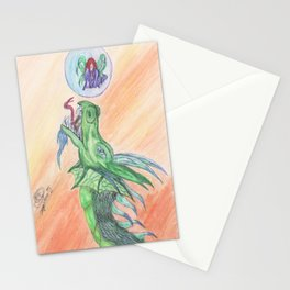 Dragon's new toy Stationery Cards