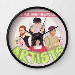 Mid-Aged Human Renaissance Artists Wall Clock