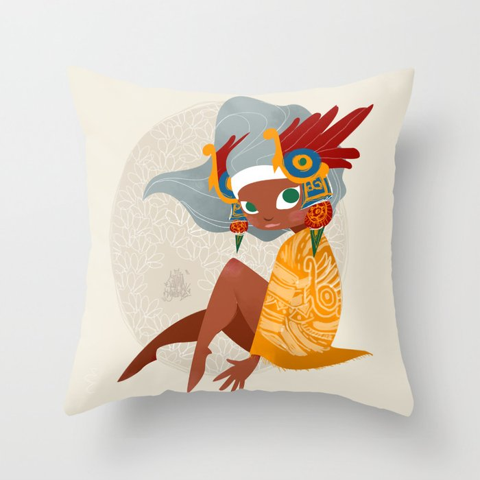 Aztec Diva Throw Pillow
