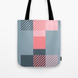 Rotation Alphabet 'I' Pink and Grey Tote Bag