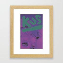 Kus Kiss Kuss Framed Art Print