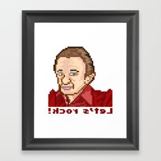!kcor s'teL (Man From Another Place Pixel Art) Framed Art Print