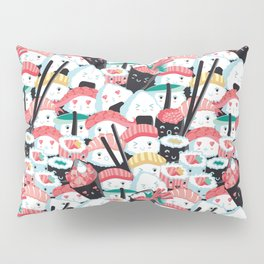 Kawaii Sushi Crowd Pillow Sham