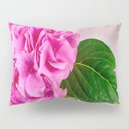 Vintage Pink Hydrangea Pillow Sham