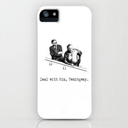 James Joyce x Ernest Hemingway - Drunken Shenanigans Painting iPhone Case