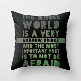 Gesher Tzar Me'od Throw Pillow