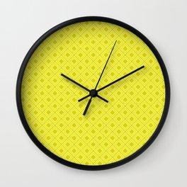 lime geometric pattern Wall Clock