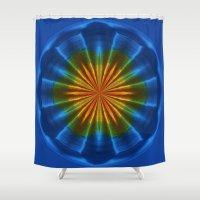 Blue Orb Shower Curtain