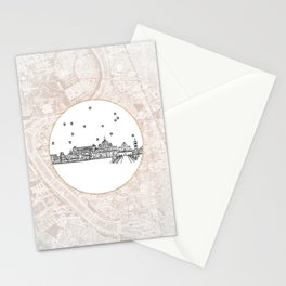 Roma (Rome), Italy, Europe City Skyline Illustration Drawing Stationery Cards