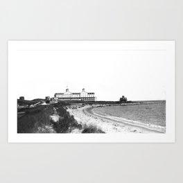1881 Larkin House Hotel - Watch Hill, Rhode Island, Lighthouse Point Art Print