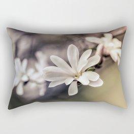 White Magnolias Rectangular Pillow