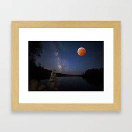 Super Blood Wolf Moon Framed Art Print