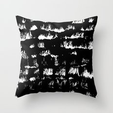Black pattern#1 Throw Pillow