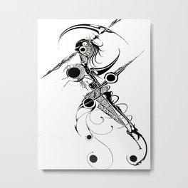Alien Reaper Metal Print