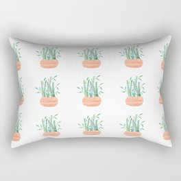lucky bamboo pattern Rectangular Pillow
