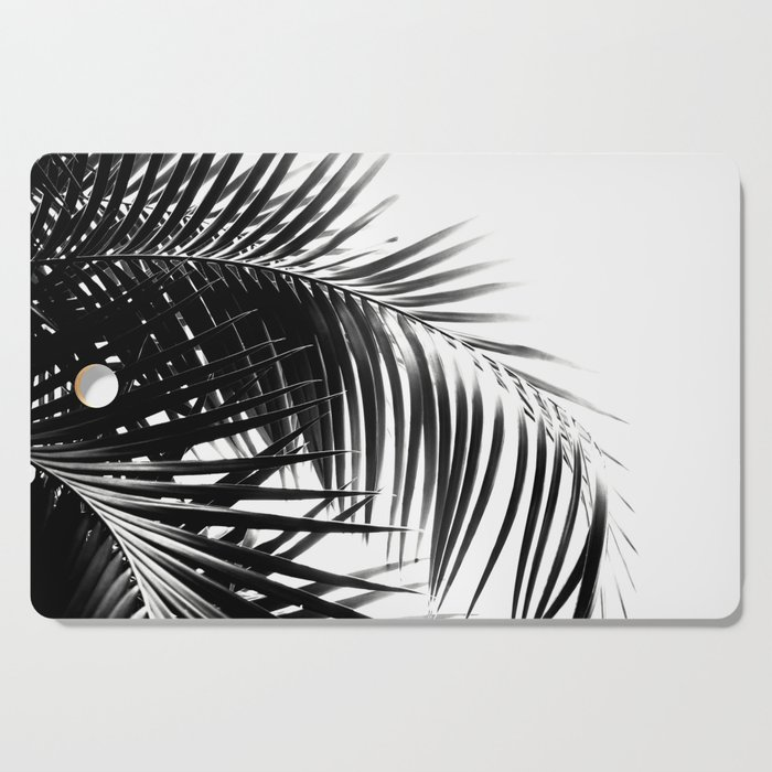 Palm Leaves Black & White Vibes #3 #tropical #decor #art #society6 Cutting Board