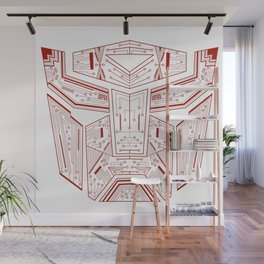 Autobot Tech Red Wall Mural