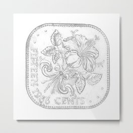 Bahamas 15 cent coin Metal Print