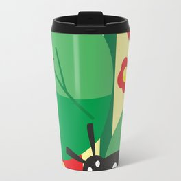 Ladybug, flowers and leaves #society6 #decor #buyart #artprint Travel Mug