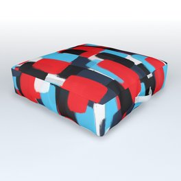 Nautic Color Watercolor Pattern Outdoor Floor Cushion