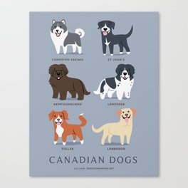 CANADIAN DOGS Canvas Print