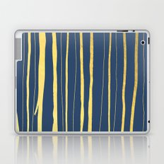 Vertical Living Navy and Gold Laptop & iPad Skin