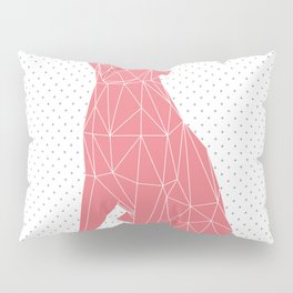 Coral Pink Faceted Dog Pillow Sham