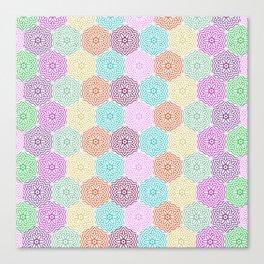 Colorful hexagon mosaic pattern Canvas Print