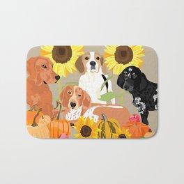 Coonhound Autumn Bath Mat