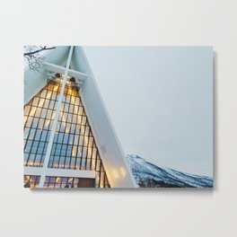 Winter at the Arctic Cathedral Metal Print