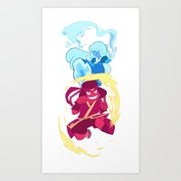 avatar the last airbender Art Prints featuring Steven Universe x Avatar The Last Airbender by Matereya