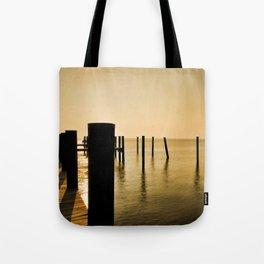 The Sunlit Dock Tote Bag