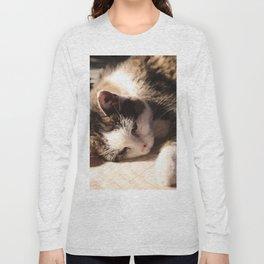 Sleeping Cat Illustration Long Sleeve T-shirt