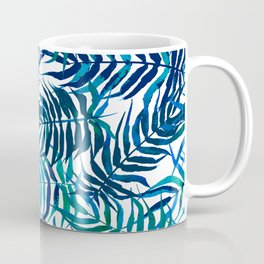 Watercolor floral pattern with palm leaves Coffee Mug