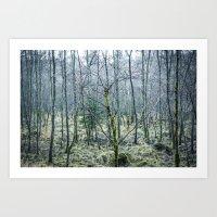 Art Print featuring Foggy forest by GautCheezzz