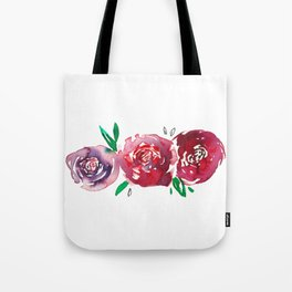 Three Red Christchurch Roses Tote Bag