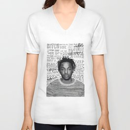 Kendrick Lamar quote print / poster hand drawn type / typography Unisex V-Neck