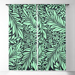 Green and black Vintage foliage seamless pattern for fine home decoration Blackout Curtain