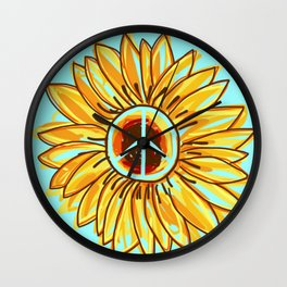PEACEFLOWER Wall Clock