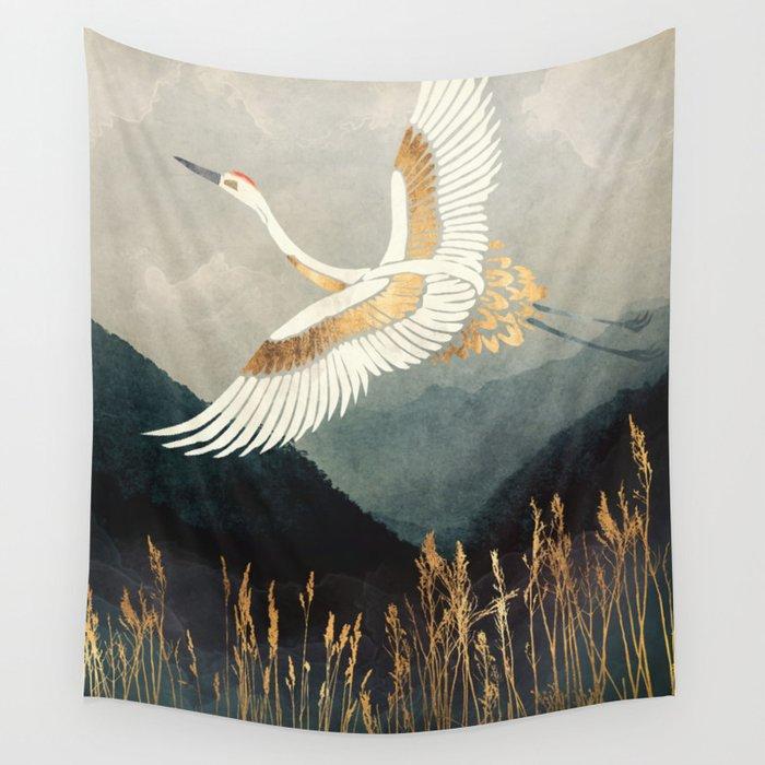 Elegant Flight Wall Tapestry