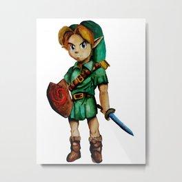 Zelda - Link Metal Print