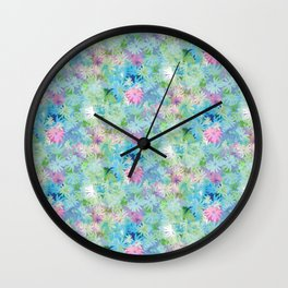 A bed of flowers. Wall Clock