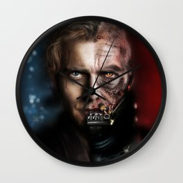 The Chosen One (unmasked Vader) Wall Clock