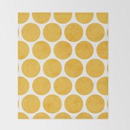 yellow polka dots Throw Blanket