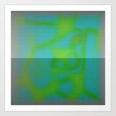 Yellow Color Leak Art Print
