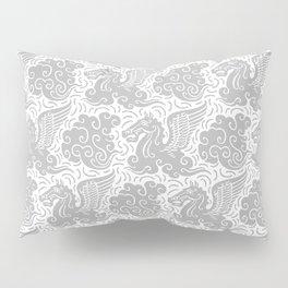 Pegasus Pattern Grey Pillow Sham
