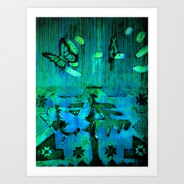 Entomophobia (green) Art Print