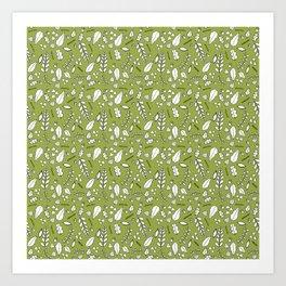 Scandi Leaves Art Print